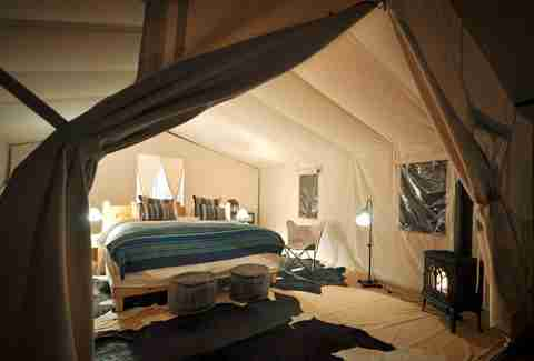 Interior of a Cresto Ranch Tent