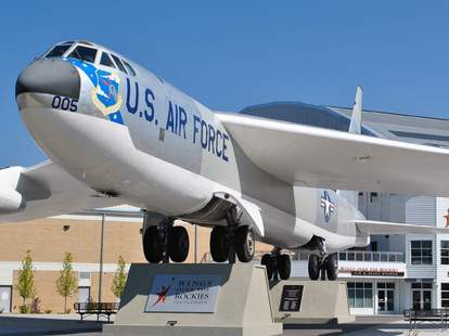 US Air Force plane outside Wings Over the Rockies Air and Space Museum -- Denver