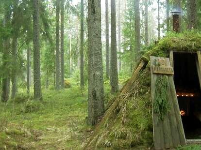swedish hut in the woods