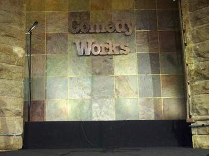 Comedy Works stage -- Denver