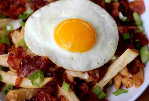 Bacon egg fries at SliderBar