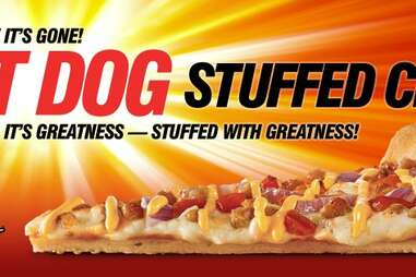 Hot Dog Stuffed Pizza from Pizza Hut