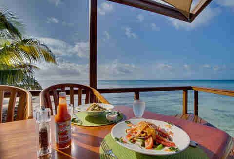 Hatchet Caye Resort Food