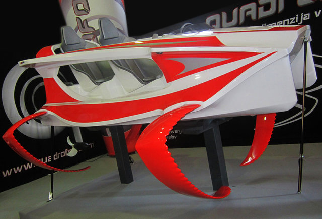 A jetski that flies above the water