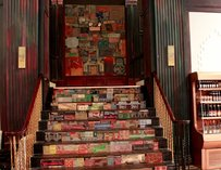 Art-adorned stairs