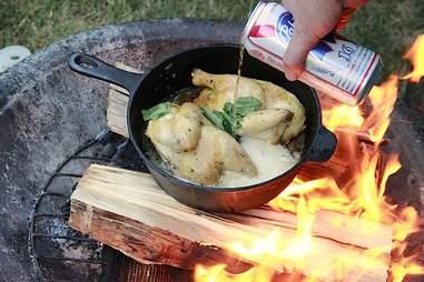 Peach Chicken cooking with PBR