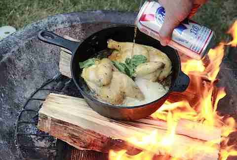 Peach Chicken cooking with PBR
