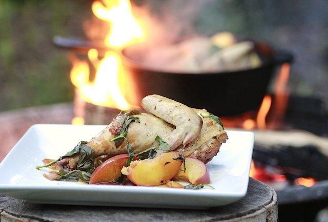 Crazily simple 5-star campfire cuisine you can actually make: Peach Chicken