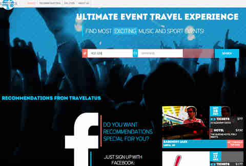 Travelatus Search Page