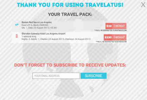 Travelatus Checkout Page