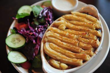 shepherd's pie at Churchill's