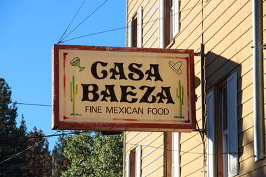 Casa Baeza sign