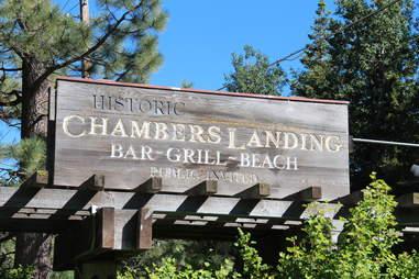 Chambers Landing sign