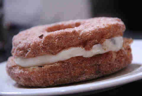 The cannoli Cronut Do-Cro from Potito's Bakery