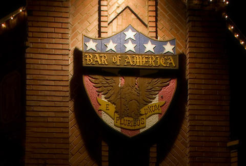 The sign for Bar of America