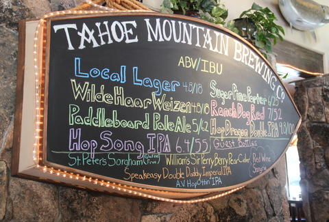 Beer list at TMBC