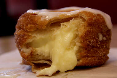 The Swiss Cro Cremes with a vanilla glaze at Swiss Haus Bakery
