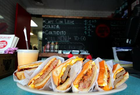 Breakfast sandwiches from Brother Jimmy's Back Door Cafe