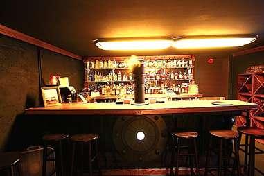 The bar at Modern Man Mississippi.