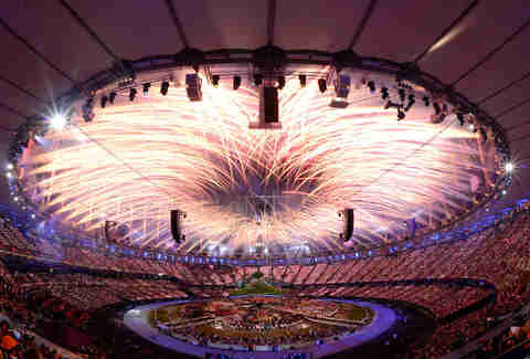 london olympic stadium fireworks 2012