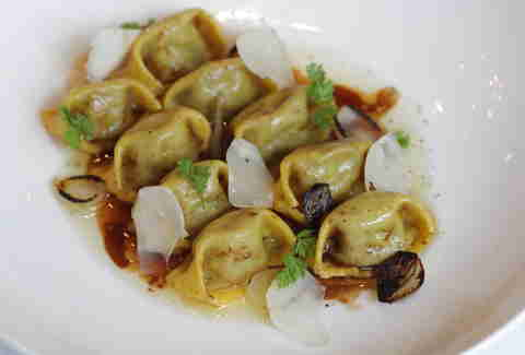 Dry aged beef agnolotti