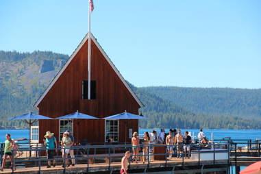 Lake Tahoe outdoor restaurant