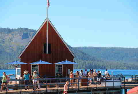 Lake Tahoe outdoor restaurant