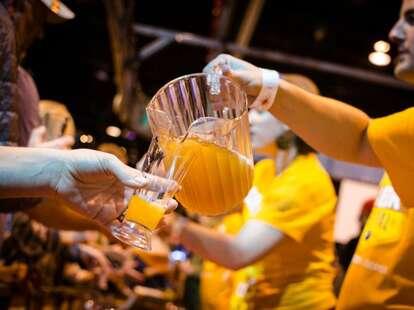 Great American Beer Festival beer being served