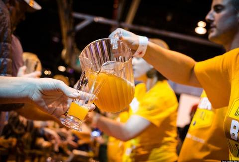Great American Beer Festival beer being served