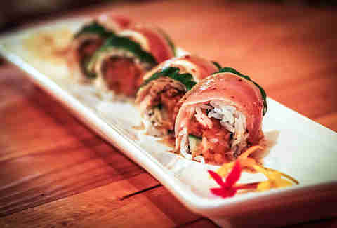The Bruce Lee Roll at Bang Bang in the Gaslamp District San Diego.