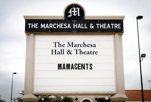 The Marchesa Hall & Theatre Sign