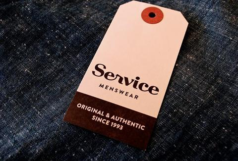 A tag from Service Menswear