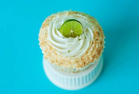 A Key lime cupcake from Fluellen Cupcakes