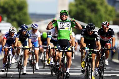 Tour de France finish line