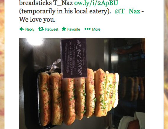 The heartwarming tale of how one hungry man convinced Sbarro to rename their breadsticks after him