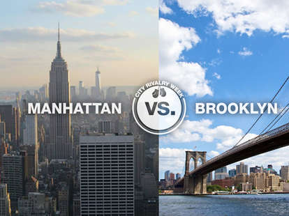 manhattan vs. brooklyn city rivalry