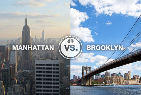 manhattan vs. brooklyn city rivalry