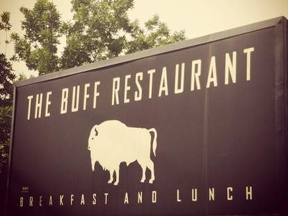 The Buff Sign -- Boulder