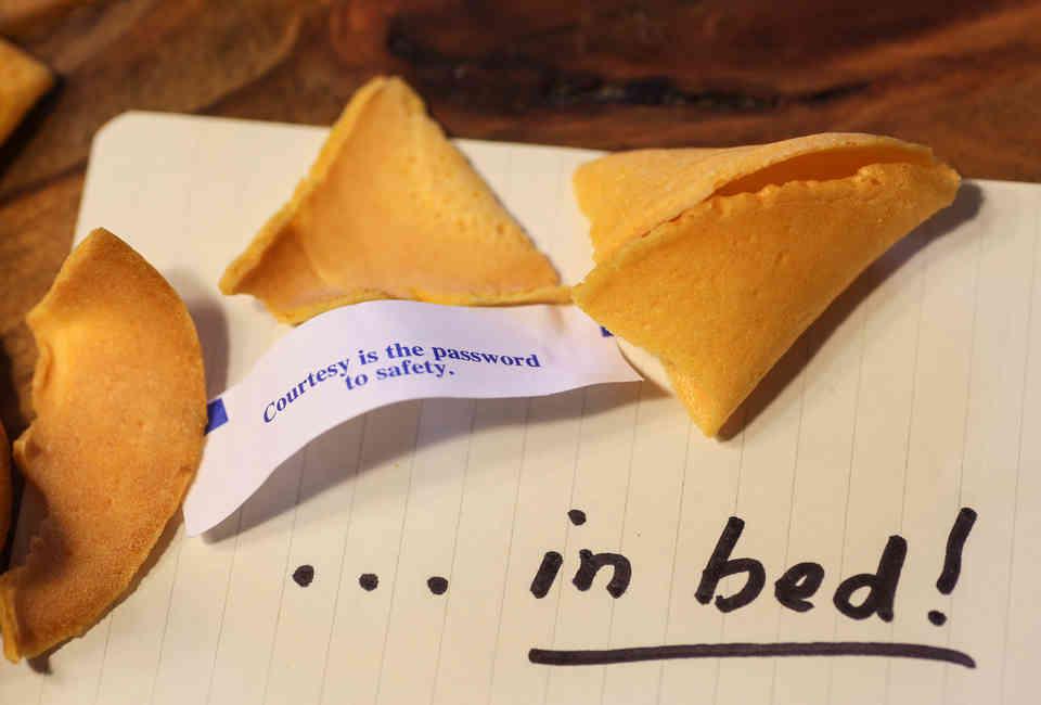 image regarding Printable Funny Fortune Cookie Sayings Pdf titled Amusing Fortune Cookies - 350 Humorous Fortune Cookie Sayings