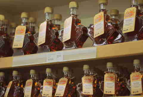 maple syrup aisle grocery store Montreal