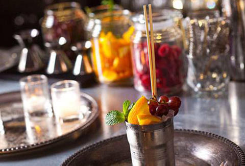 Bellocq mixed drinks with fruit