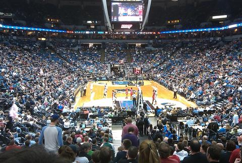 A Timberwolves game at the Target Center