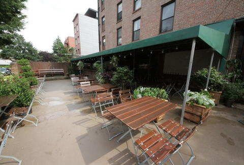 Goldenrod outdoor seating -- Brooklyn, NYC