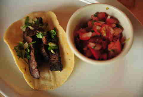Arrachera taco at Agave Taco Bar
