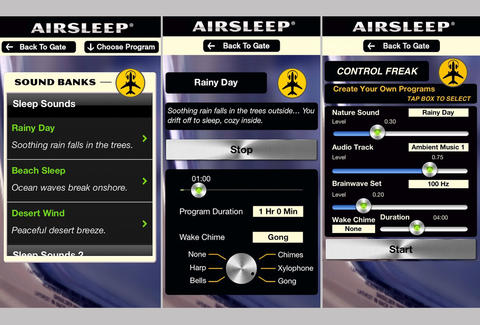 Airsleep App Screen Shots