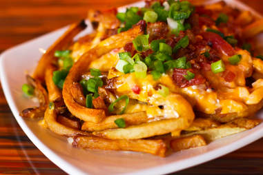 Slice & Pint - loaded french fries