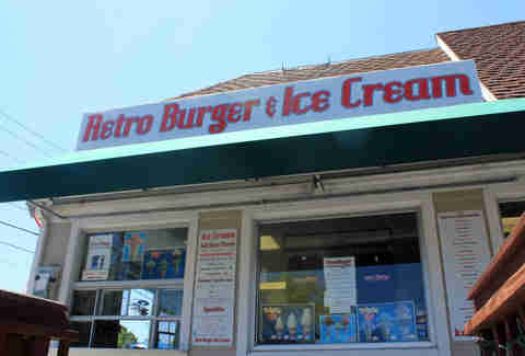 Exterior of Retro Burger and Ice Cream