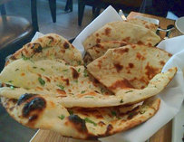 Garlic Naan at Amber Dhara