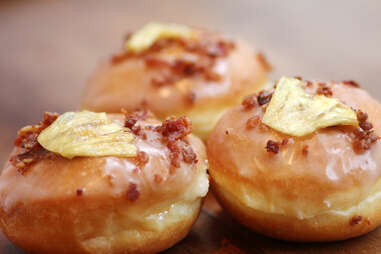Maple glazed pineapple and bacon at Firecakes in River North