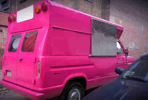 The Cherry Bomb Bus 1985 Shortbus in Hot Pink